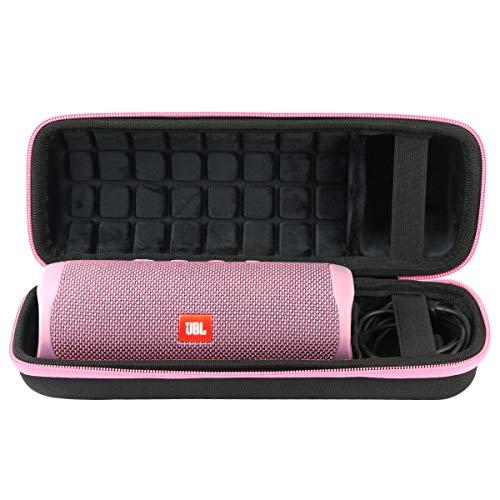 co2CREA Hart Tasche für JBL Flip 5 Bluetooth Box portabler Lautsprecher Hülle Etui Tragetasche (Hart Hülle, Rosa Reißverschluss)