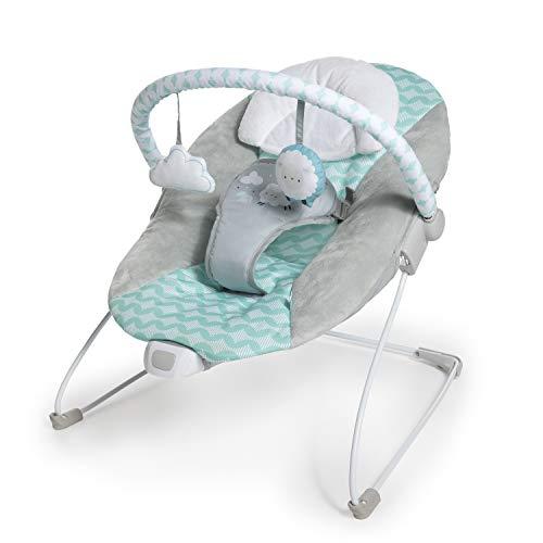 Ingenuity, Ity Hamaca para bebé Bouncity Bounce, vibraciones relajantes, arco de actividades con 2 juguetes, 3 puntos de fijación- Goji