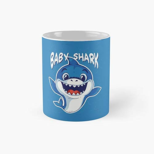 Taza clásica con diseño de tiburón bebé   El mejor regalo divertidas tazas de café de 325 ml