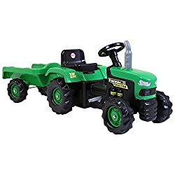 Features : Easy to control, Steering wheel, Working horn with fun beeping sound, Vibrant green and black design, Crafted from durable plastic Material : Plastic Dimensions : H52 x L173 x W45cm Weight : 7.5kg, Max. user weight: 35kg Colour : Green