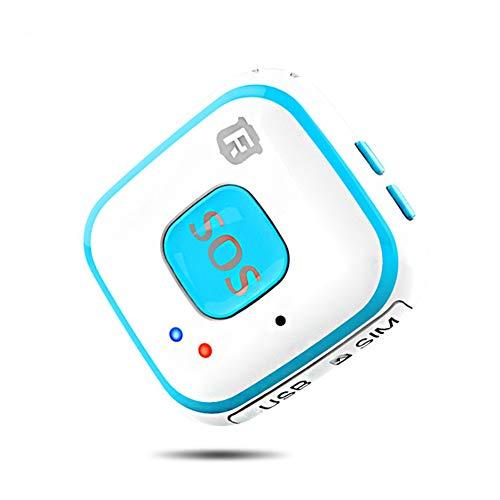 Los Niños Y Elder Caída Mini Alarma GPS del GPS Esto Grande para El Uso Diario - Tracker para Demencia - Botón SOS De Alzheimer,Azul