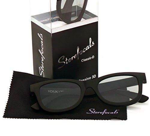 Sterefocals Designer Passive 3D Glasses (Black)