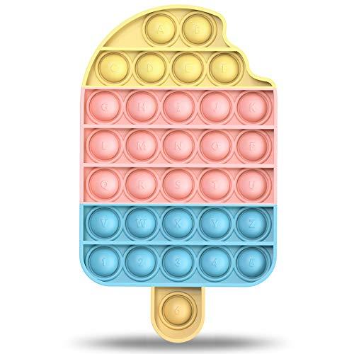 pop it zucca Fidget Toy Poppit Antistress Popit Game Pop Bubble gelatoToys Gioco Antistress a fine Tensione Giocattolo sensoriale L'autismo allevia l'ansia per Bambini e Adulti (gelato-it)