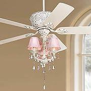 """52"""" Casa Deville8482; Pretty in Pink Pull Chain Ceiling Fan"""