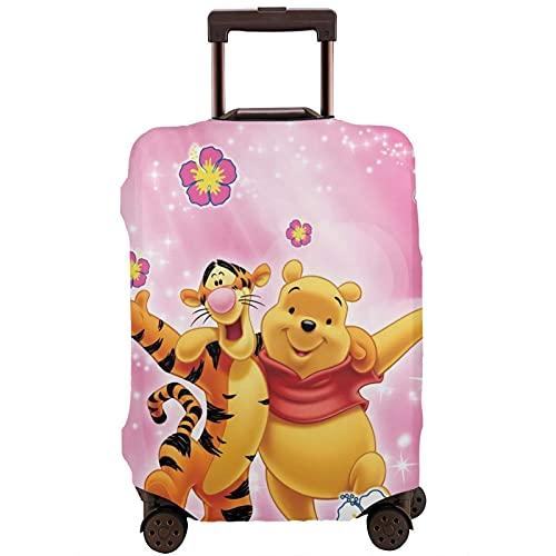 Winnie Cartoon Pooh Bear Tigger Maleta Funda Protectora Banda Elástica Caja Protectora Anti-Rasguño Las Mangas Elásticas Gruesas son Fácil de limpiar, Impreso Elegante y Lindo