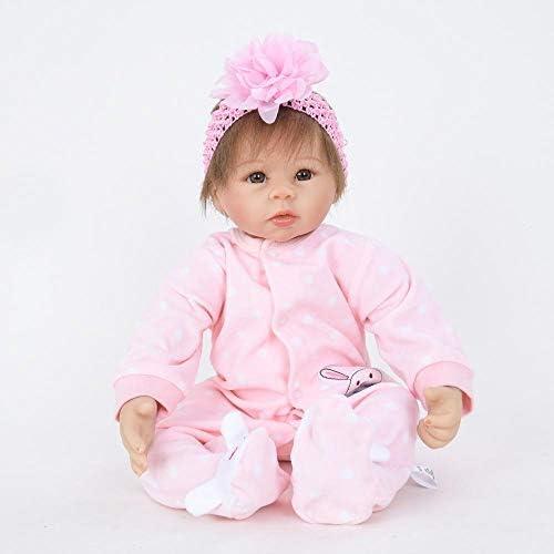 Hongge Reborn Baby Doll,Echtes Wiedergeburtspuppe Baby w st, um Partner Reborn Puppe Spielzeug 5cm zu wollen