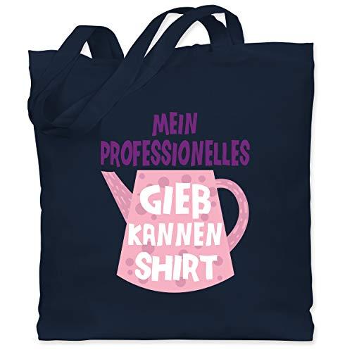 Up to Date Kind - Mein professionelles Gießkannen Shirt - rosa - Unisize - Navy Blau - Spruch - WM101 - Stoffbeutel aus Baumwolle Jutebeutel lange Henkel