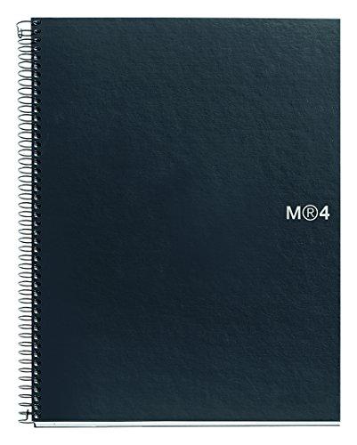 Basicos Mr 2121, Cuaderno A5 con Tapa de Polipropileno, 160 Hojas, Negro