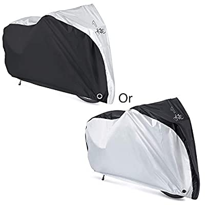 Maveek Bicycle Rain Cover 190T Waterproof Cycle Bike Rain Cover for Outside Storage Road Bike Covers