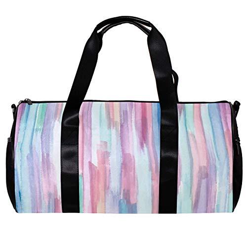 Bolsa de deporte redonda con correa de hombro desmontable colorido abstracto fondo de entrenamiento bolso de noche para mujeres y hombres