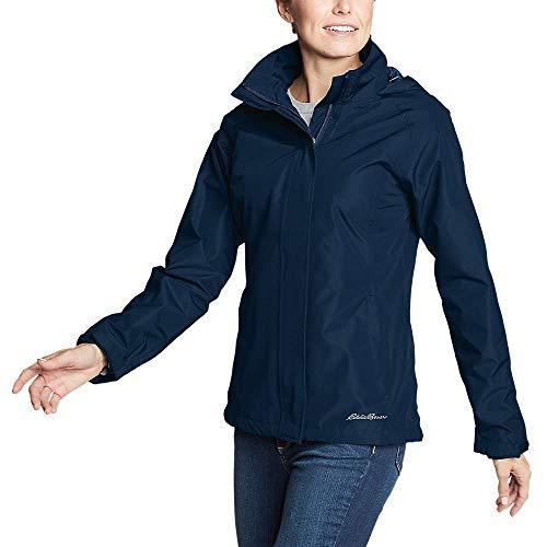 Eddie Bauer Women's Rainfoil Packable Jacket, Med Indigo Regular XS