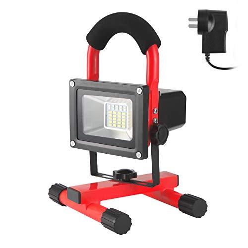 Luz portátil, LED luz de trabajo LED portátil recargable LED antorcha luz 30 W impermeable IP65 lámpara de camping al aire libre proyector proyector cargador de coche