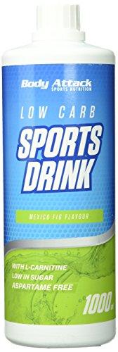 Body Attack Zero Sports Drink, Mexican Fig / Mexiko Feige, 1x 1000 ml / 200 Portionen, Sportgetränkekonzentrat, zucker- und fettarm, vegan, Made in Germany