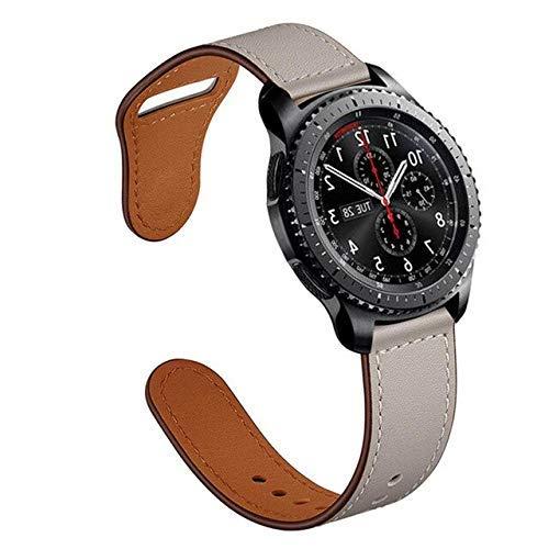 Reloj DIY GT 2 Correa compatible con Galaxy Watch 46 mm Gear S3 Frontier Correa de cuero de 2 mm Correa de reloj deportiva 46 Correa de reloj (color gris, tamaño: Gear S3)