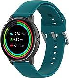Gransho Correa de Reloj Compatible con Xiaomi Haylou Solar LS05 / Haylou RT LS05S, Blando Silicona Narrow Delgada Deporte Reemplazo Pulsera (Pattern 4)