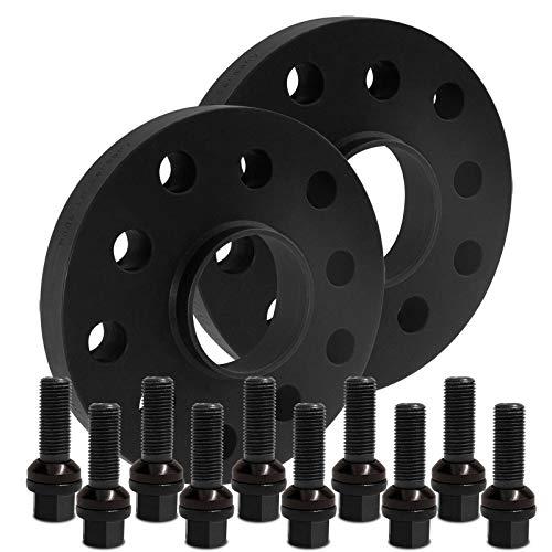 BlackLine Spurverbreiterung 30mm (15mm) mit Schrauben schwarz 5x112 66,5mm - 12435W_13_XV1415KU45X