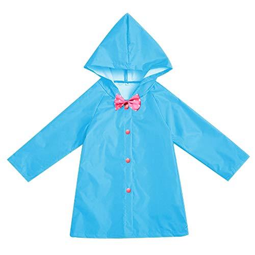 GRNSHTS Toddler Kids Boy Girl Raincoat Unisex Rain Jacket Children Hooded Rainwear School Oufits (Blue, 9-10 Years)