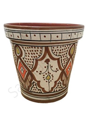 Saharashop Marokkanischer Keramik-Blumentopf Braun 20 cm