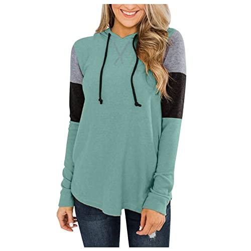 SHOBDW Barato Sudaderas Larga Mujer 2021 Talla Grande Pullover Jerseys Suéter con Bolsillo Sweatshirt Tops Adolescentes Invierno Mujer Liquidación Venta(Verde,S)