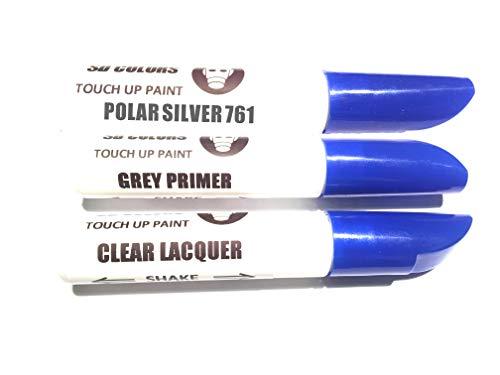 SD COLORS Polar Silver 761 - Kit di Riparazione Penna per ritocchi, 12 ml, Colore 761 Polar Silver