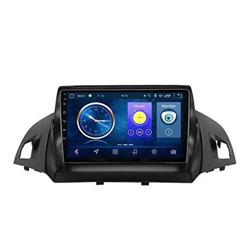 XMZWD 9 inch Navigatore per Auto Android 8.1 2-32G Dvd Auto, per Ford Kuga Escape C-Max 2013-2016 Auto GPS Navigazione Supporto Sterzo Controllo della Ruota, Navigatore Satellitare