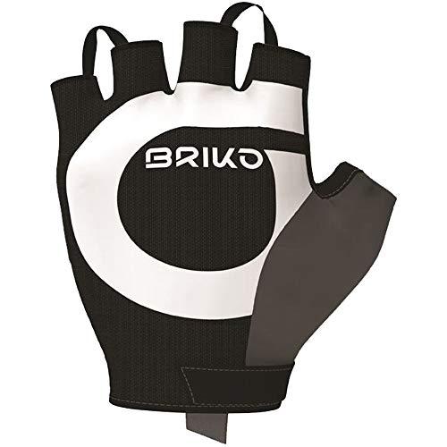 Briko Granfondo Glove Guanti Ciclismo, Unisex Adulto, Black, L