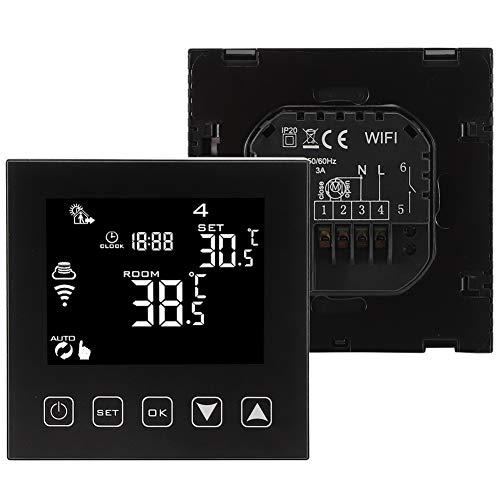 Controlador de temperatura, termostato inteligente de calentamiento de agua con botón de pared, para control de temperatura, fácil de instalar, accesorios para el hogar