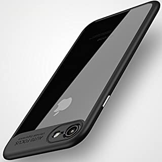 HC&ABELE iPhone 7 Plus Case, iPhone 8 Plus Case, Ultra-Thin Case, Simple Stylish Fully Protective, Shock Absorption Back-Transparent Bumper for iPhone 7Plus 8Plus (Black)