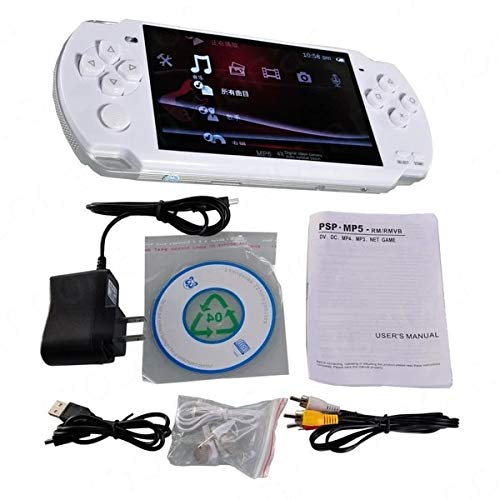 Red Handheld Game Console 4.3 Inch Screen Mp4 Player Mp5 Game Player Real 8gb Support for PSP Game,Camera,Video,e-Book