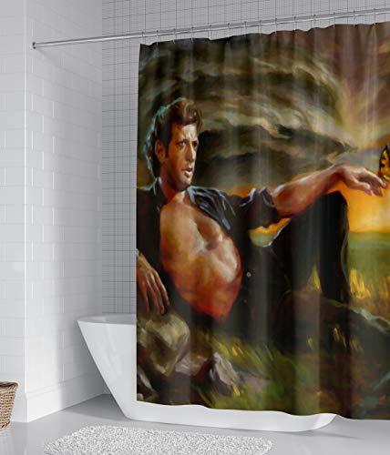 Sorcerer Goldblum Duschvorhang, wasserdicht, Ölgemälde, 12 Haken, für Badezimmer, Dekoration, Größe 167,6 x 182,9 cm