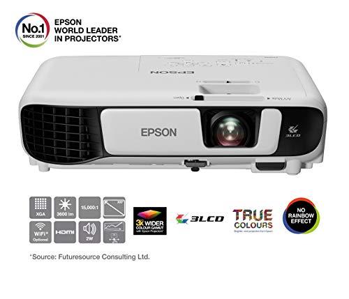 Epson EB-X41 Videoproiettore XGA 3LCD, HDMI, 3.600 Lumen, Contrasto 15.000:1, RIS.1024x768 4:3, Lampada UHE di Lunga Durata, Immagini fino a 300'