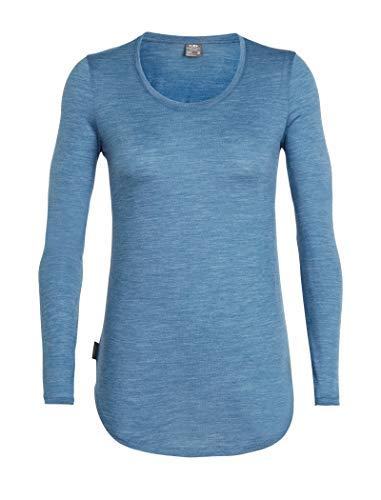 Preisvergleich Produktbild Icebreaker Merino Damen Solace Langarm U-Ausschnitt Shirt Thunder Hthr XL