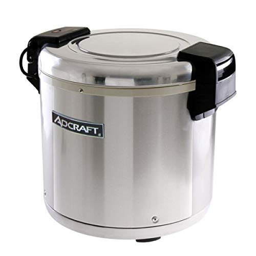 Adcraft RW-E50 50-Cup Rice Warmer, Stainless Steel, 100-Watts, 120v