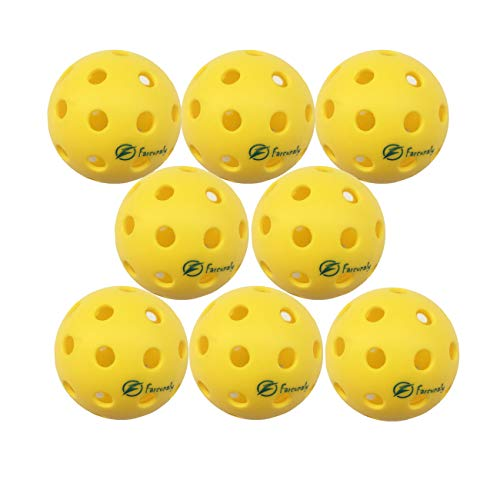 Outdoor Pickleball Ball Outdoor , 40 Holes, Durable and Great Bounce, Almost Seamless Joint, Precise Drilling Holes,Bright Yellow