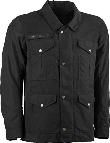 highway 21 Winchester Men's Street Motorcycle Jacket - Black / 3X-Large