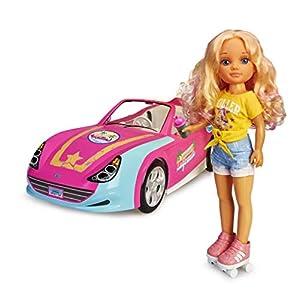Nancy-Un día en California, muñeca con Coche y Patines (Famosa 700015788)