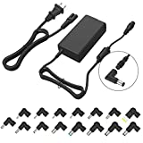 Multi Tips Slim AC Power Adapter 70W Universal Portable Laptop Charger for Asus Vivobook, Acer Aspire, Dell Inspiron, HP Pavilion, Lenovo Toshiba Sony IBM Samsung Laptops (Automatic Voltage, 15 Tips)