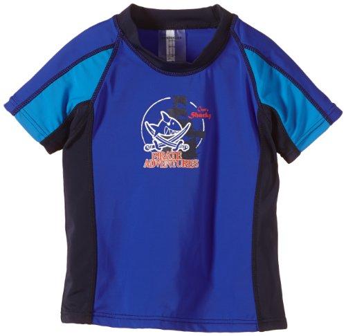 Schiesser Jungen Bade-Shirt Badeshorts, Blau (Aquarium 813), 98 (Herstellergröße: 098)