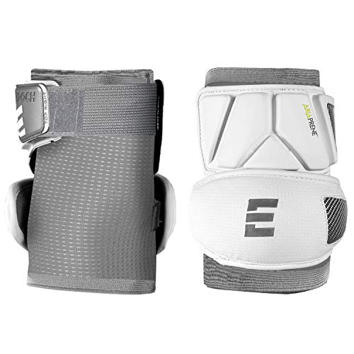 Epoch Integra Elite Lacrosse Elbow Caps with Form-Fitting Compression Sleeve, Hardshell, X-Large, White