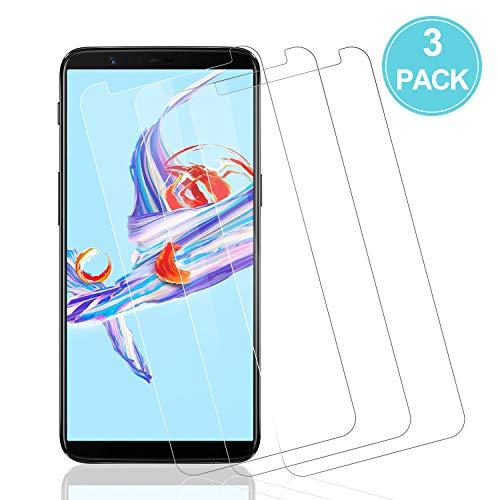 Wiestoung Protecteur d'écran en Verre Trempé pour OnePlus 5T, [3 Pièces] [Anti-Rayures] [sans Bulles] [2.5D Bord] Film Protection écran Vitre Transparent HD pour OnePlus 5T