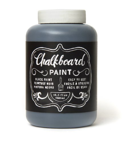 DIY Shop Chalkboard Paint by American Crafts | 16.5 ounces, Black (366867)