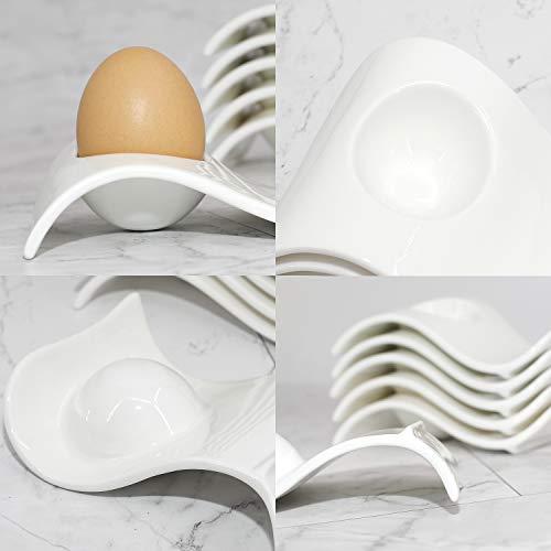 Chas Bete Assiettes-coquetiers pour Servir des œufs durs et