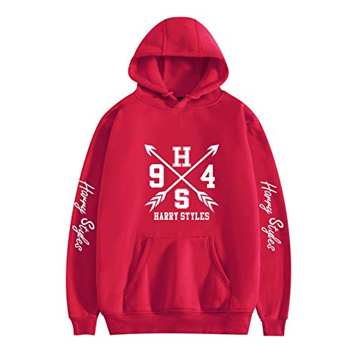 ASDFGHJKL Harry Styles Pullover Hoodie Sports 2D Print Sweatshirt Boy/Girl Street Unisex Casual Wear Mejor Regalo,Rojo,XXL