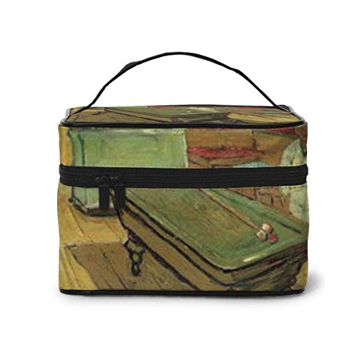The Night Cafe Travel Makeup Train Case Makeup Cosmetic Case Organizer Portable Artist Storage Bag