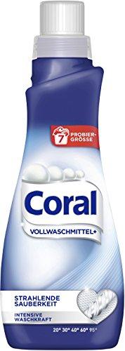 Coral flüssig Vollwaschmittel, Probiergröße (7 Waschladungen)