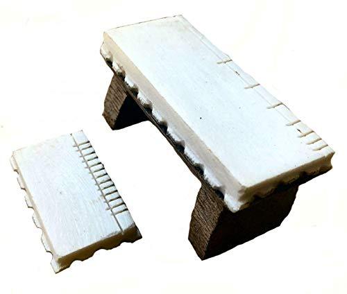 Terrapin Trading Ltd Ersatz Sitar Knochenbrücke Set 2pc Bada Ghoraj Ersatzteile Ersatzteile Indian Indien