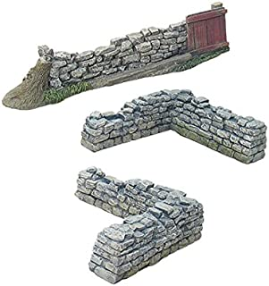 Britains Civil War, American Revolution Scenics Collection 17812 - Gate & Corner Stonewall Section 1/30 Scale Painted Metal/Resin Toy Soldier Diorama Accessories Compatible with Thomas Gunn Collectors Showcase Frontline King Country