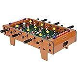 ZXQZ Mesa de futbolín de futbolín, mini mesa de fútbol de madera, mesa de fútbol de pie para juegos de familia
