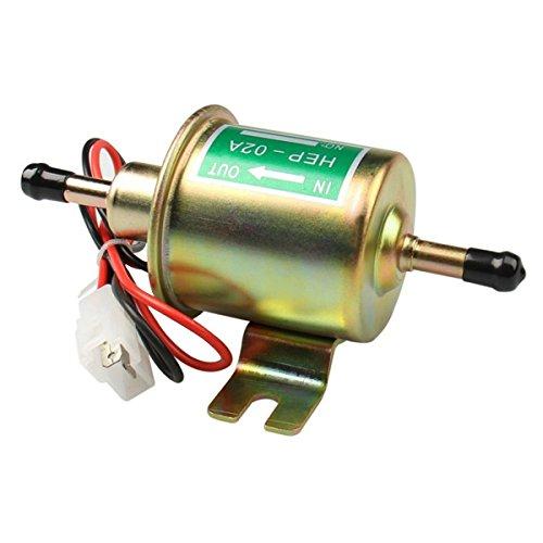 Holdlebe Universal 12V/24V Kraftstoffpumpe Benzin Diesel Pumpe Elektro-Pumpe HEP-02A