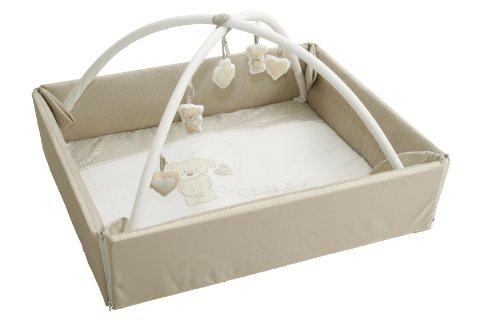roba Baby Nest 4in1 'Liebhabär', abwaschbare Wickelauflage mit Absturzsicherung, Kuschelnest, Spiel- & Krabbeldecke, Activity Center mit Spielbogen & Spielelementen & Laufgittereinlage